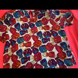 Vintage purse blouse